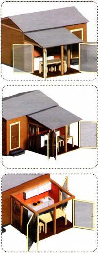 Летняя кухня пристроена к дому