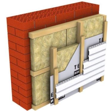 Утепление фасада при помощи минеральной ваты