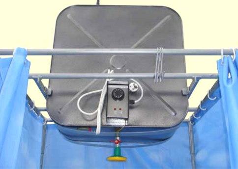 Летний душ с подогревом воды с использованием нагревательных элементов