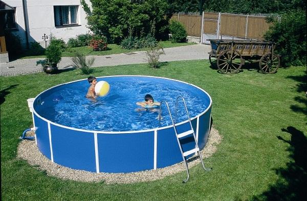 бассейн с каркасом для дачи