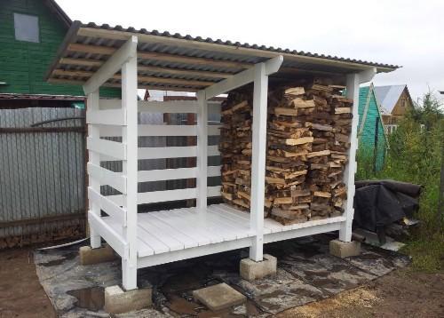 Построить сарай для дров 117