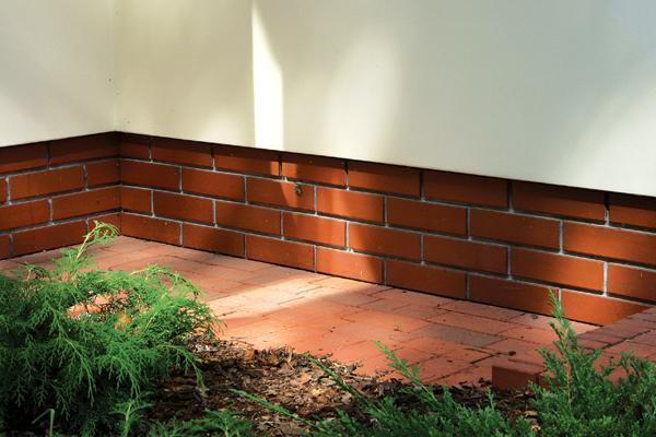 отделка цоколя дома клинкерной плиткой