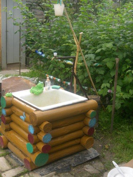 Умывальники для сада своими руками