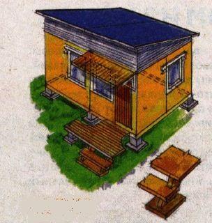 Другой вариант домика-бытовки