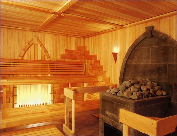 Дизайн бани внутри помещения