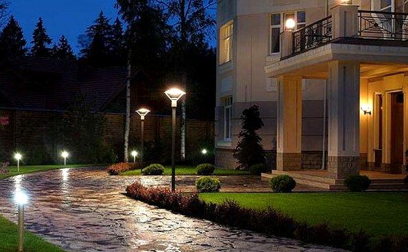 уличные торшерные фонари для дачи