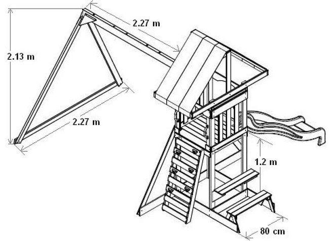 Схема детской качели и горки