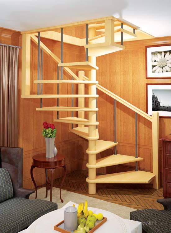 """Деревянная лестница """"Лесенка"""" на второй этаж"""