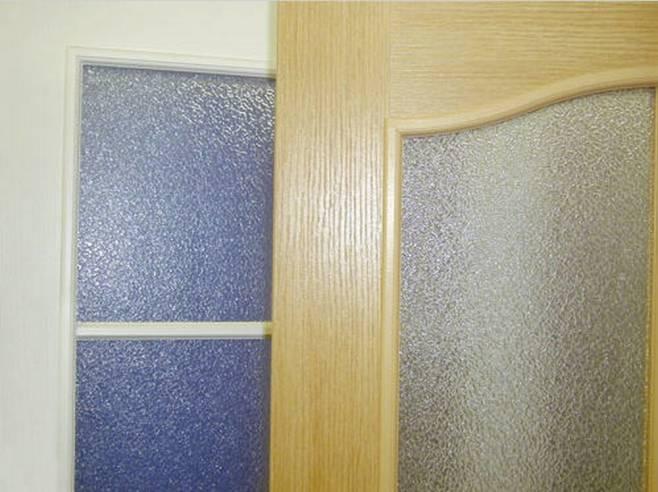 Межкомнатные двери с рифленым стеклом