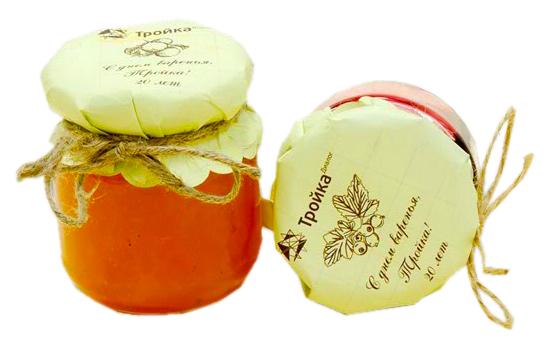 мед с логотипом на подарок