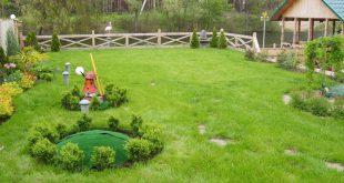 Декор септика для загородного дома, или как замаскировать смотровые люки