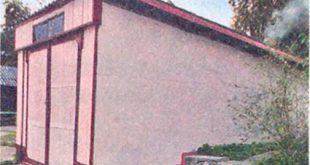Пенал гараж для авто на даче