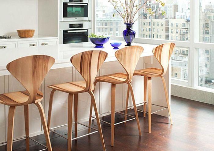 барные стулья для кухни в интерьере