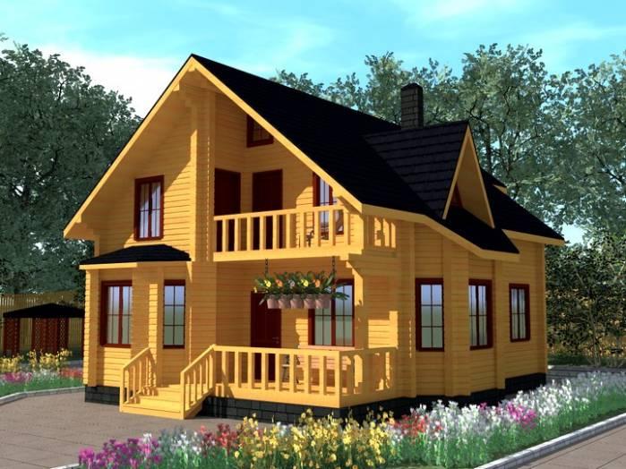 Дома из бруса с мансардой