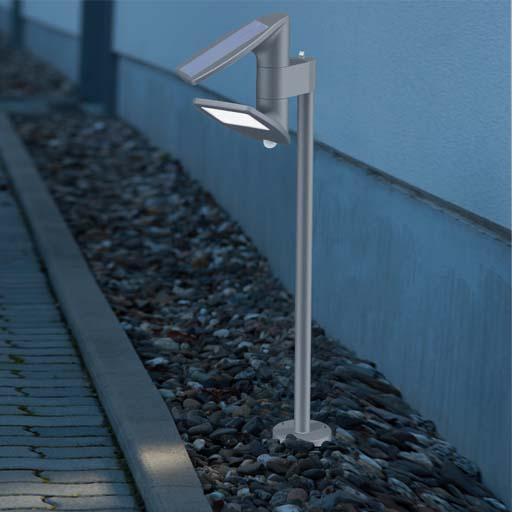 светильники для сада на солнечных батареях