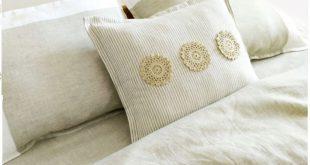 Постельное белье из льна с кружевом