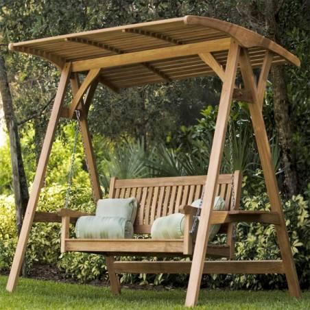 Садовые качели для дачи из дерева