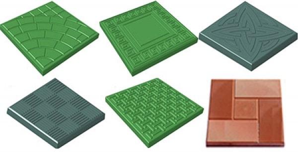 Формы для плитки и брусчатки