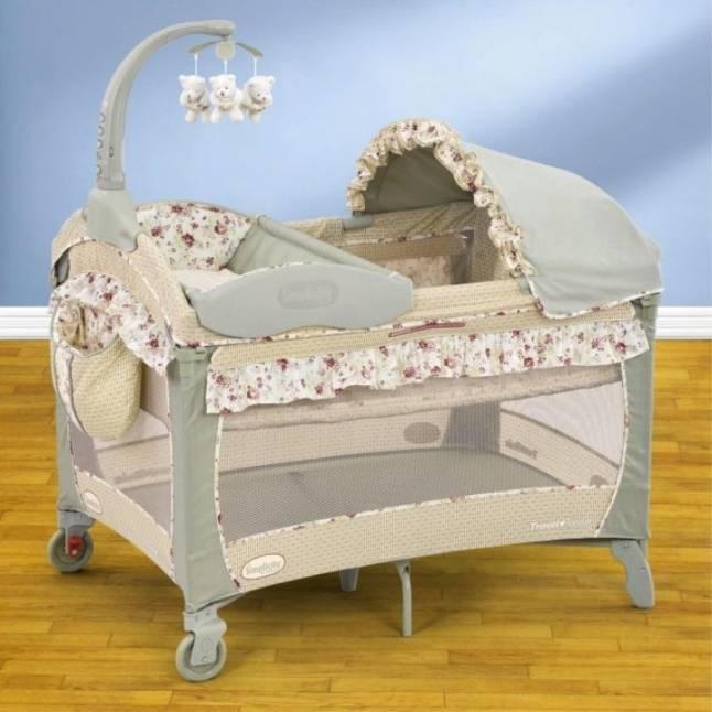 Кроватка манеж для новорожденного