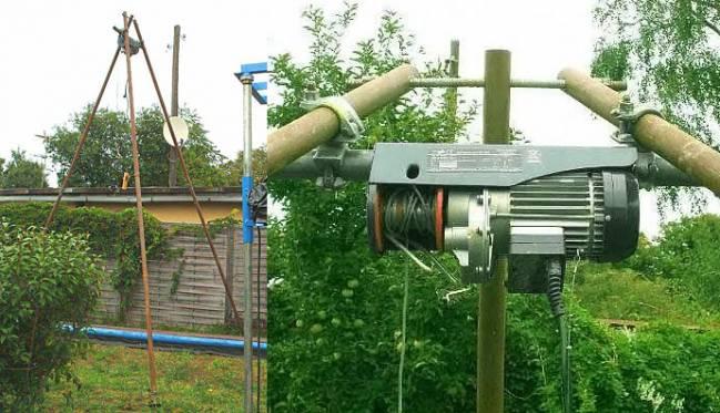 Строительные электрические лебедки на даче