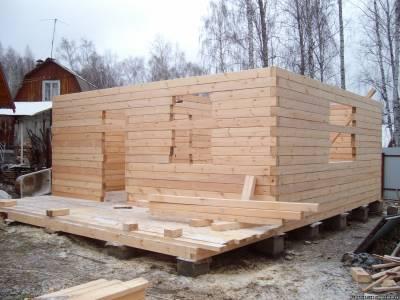 Баня из бруса: этапы строительства