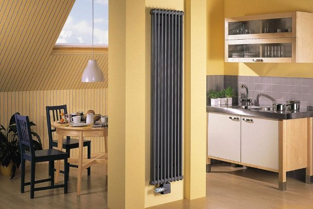 Вертикальный радиатор отопления: виды и преимущества