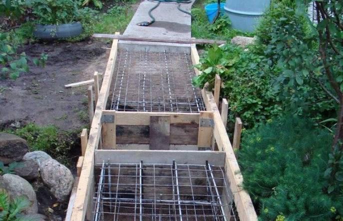 Бетонные дорожки на даче — основные принципы их обустройства