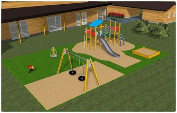 Как построить детскую площадку на дачном участке — инструкция с чертежами и фото