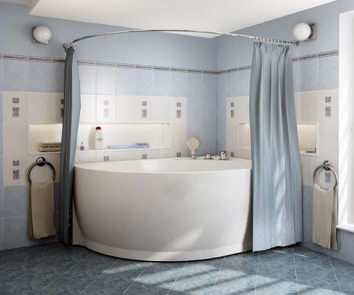 Подбираем карниз в ванную комнату